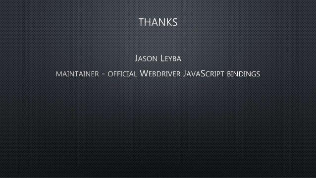 Async webdriverjs Slide 2