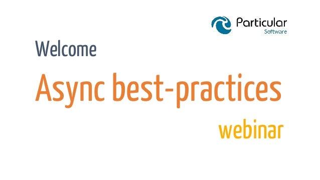 Async/Await Best Practices