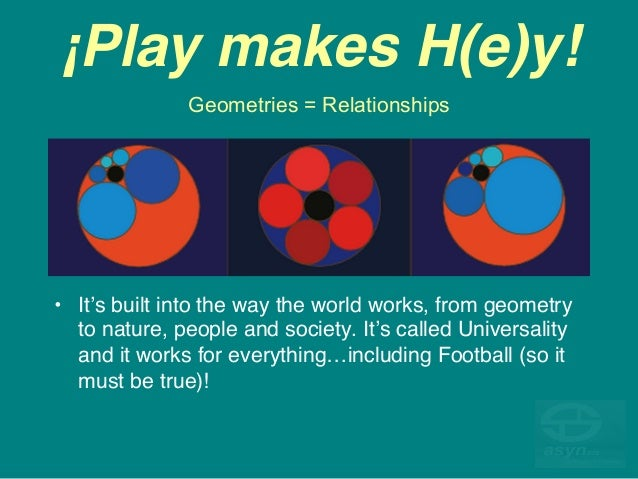 ¡Play makes H(e)y! • It's built into the way the world works, from geometry to nature, people and society. It's called Un...