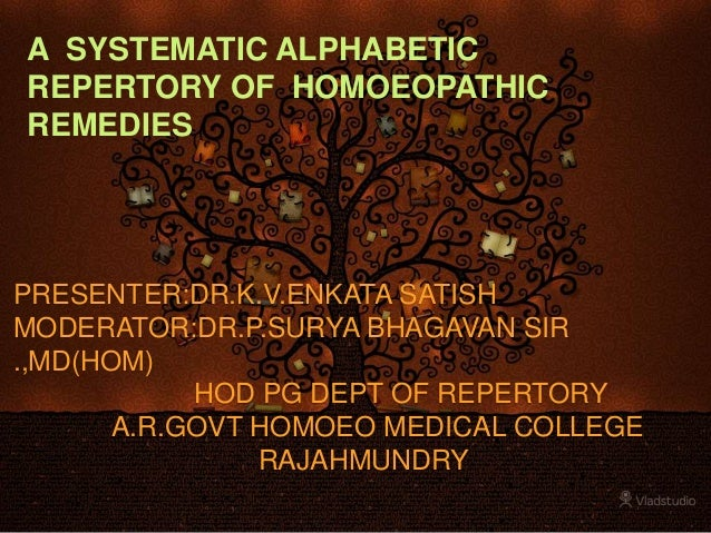 A systematic alphabetic repertory of homoeopathic remedies