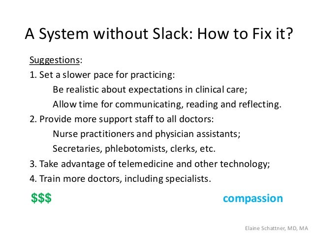 A System without Slack: How to Fix it? Suggestions: 1. Set a slower pace for practicing: Be realistic about expectations i...