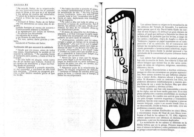 BIBLIA CATOLICA, ANTIGUO TESTAMENTO, SALMOS, PARTE 47 DE 47