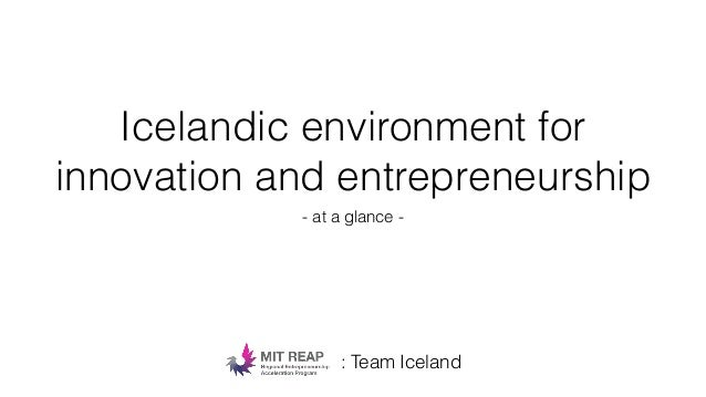 Icelandic environment for innovation and entrepreneurship - at a glance - : Team Iceland