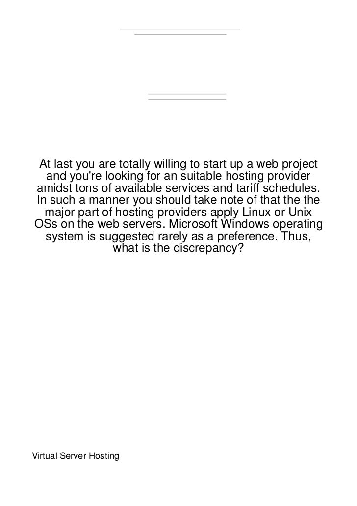 At last you are totally willing to start up a web project  and youre looking for an suitable hosting provideramidst tons o...