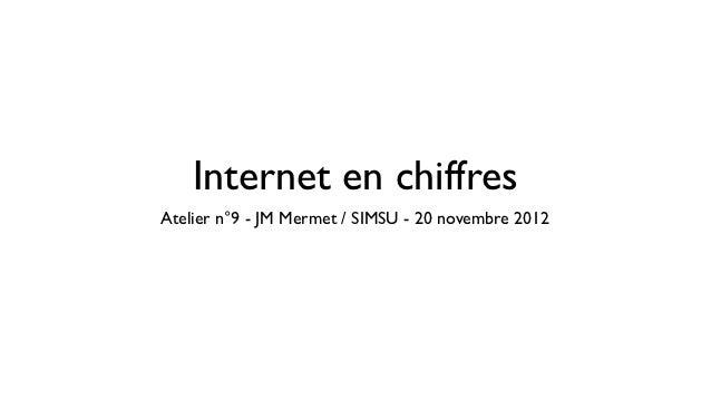 Internet en chiffresAtelier n°9 - JM Mermet / SIMSU - 20 novembre 2012
