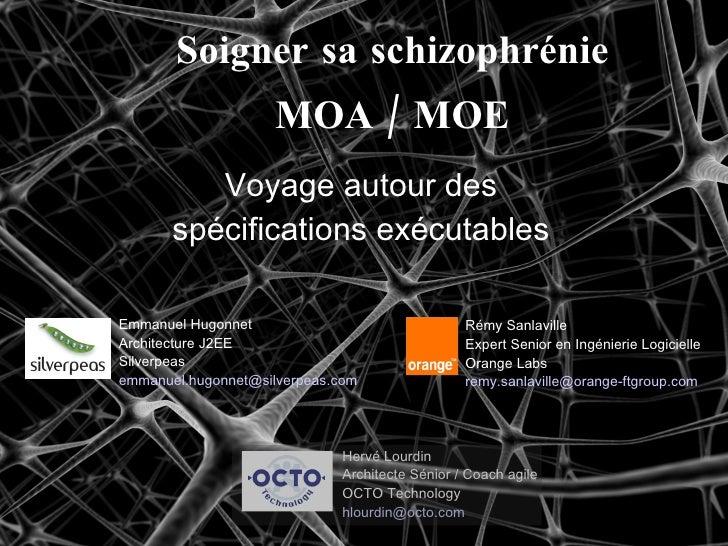 Soigner sa schizophrénie MOA / MOE Voyage autour des spécifications exécutables Rémy Sanlaville Expert Senior en Ingénieri...