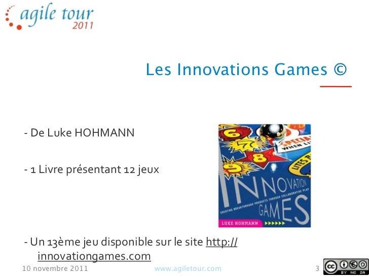 Innovation Game & Rétrospective Slide 3