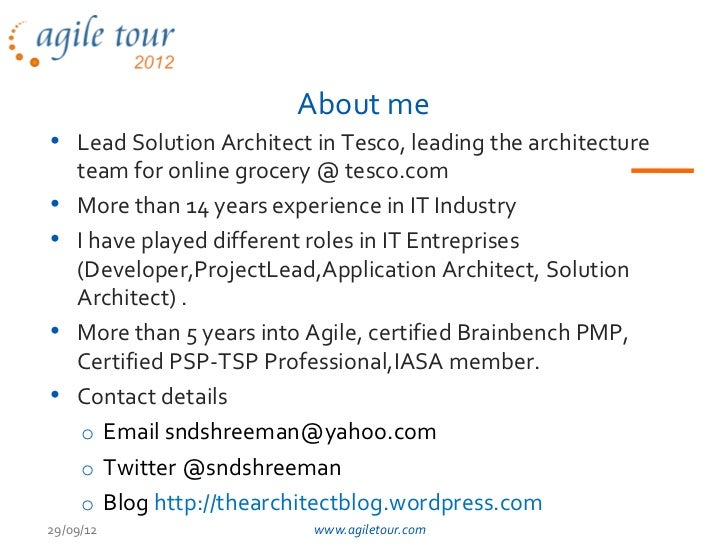 At2012 bengaluru architecturein_agileworld_shreemand Slide 2