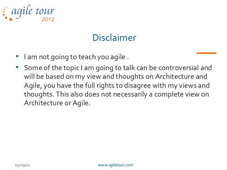 At2012 bengaluru architecturein_agileworld_shreemand Slide 3