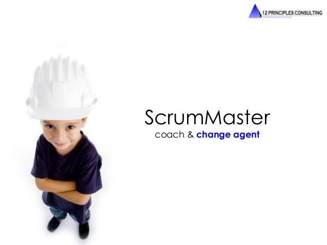 ScrumMaster  coach & change agent