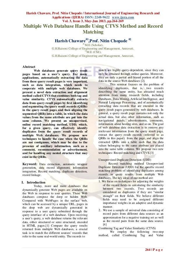Harish Chaware, Prof. Nitin Chopade / International Journal of Engineering Research andApplications (IJERA) ISSN: 2248-962...