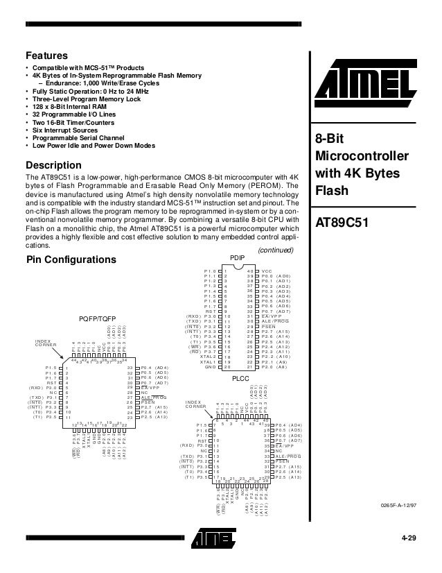 At89c51 datasheet
