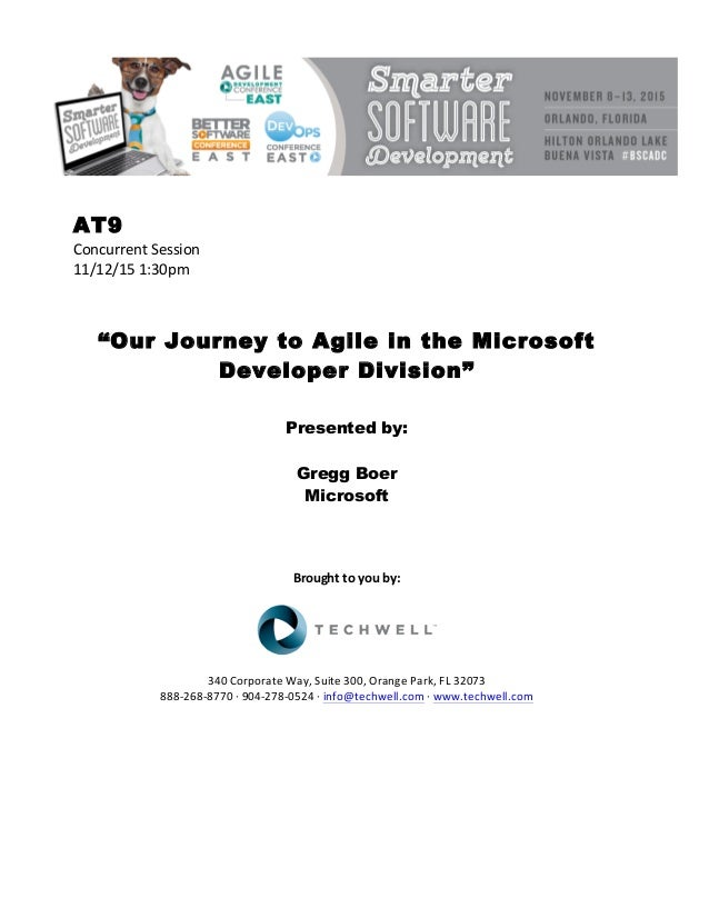 Our Journey to Agile in the Microsoft Developer Division