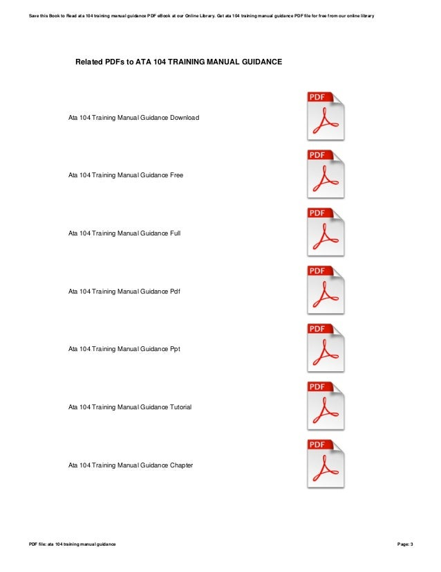 Ata 104-training-manual-guidance