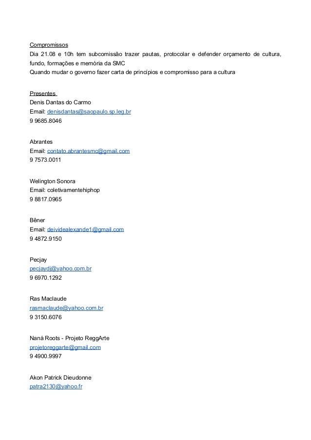 Políticas de Cultura da Cidade de São Paulo - Conselhos de Cultura, Plano Municipal de Cultura e Fundo de Cultura - CPF Slide 2