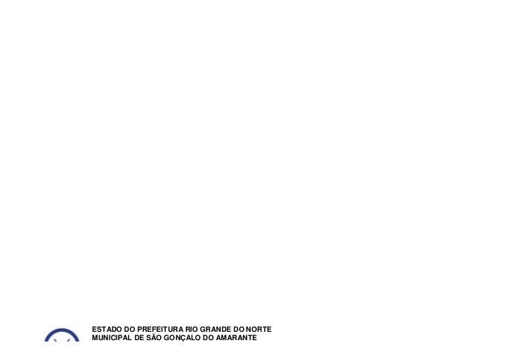 ESTADO DO PREFEITURA RIO GRANDE DO NORTEMUNICIPAL DE SÃO GONÇALO DO AMARANTESECRETARIA MUNICIPAL DE EDUCAÇÃOCENTRO EDUCACI...