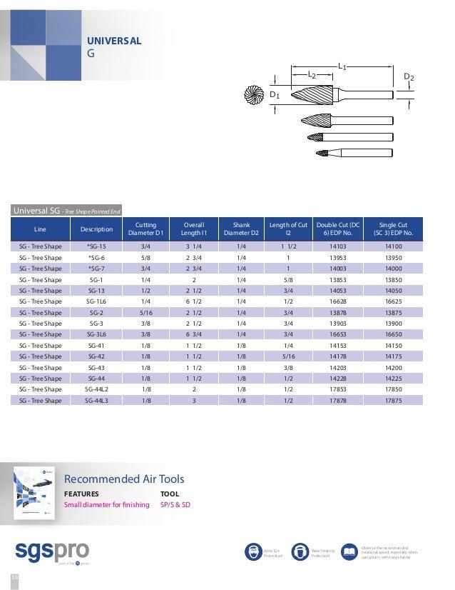 """Cylinder Shape w// End Cut SB-7 3//4/"""" Cut 1//4/"""" NEW SGS Solid Carbide Bur ONE 1"""