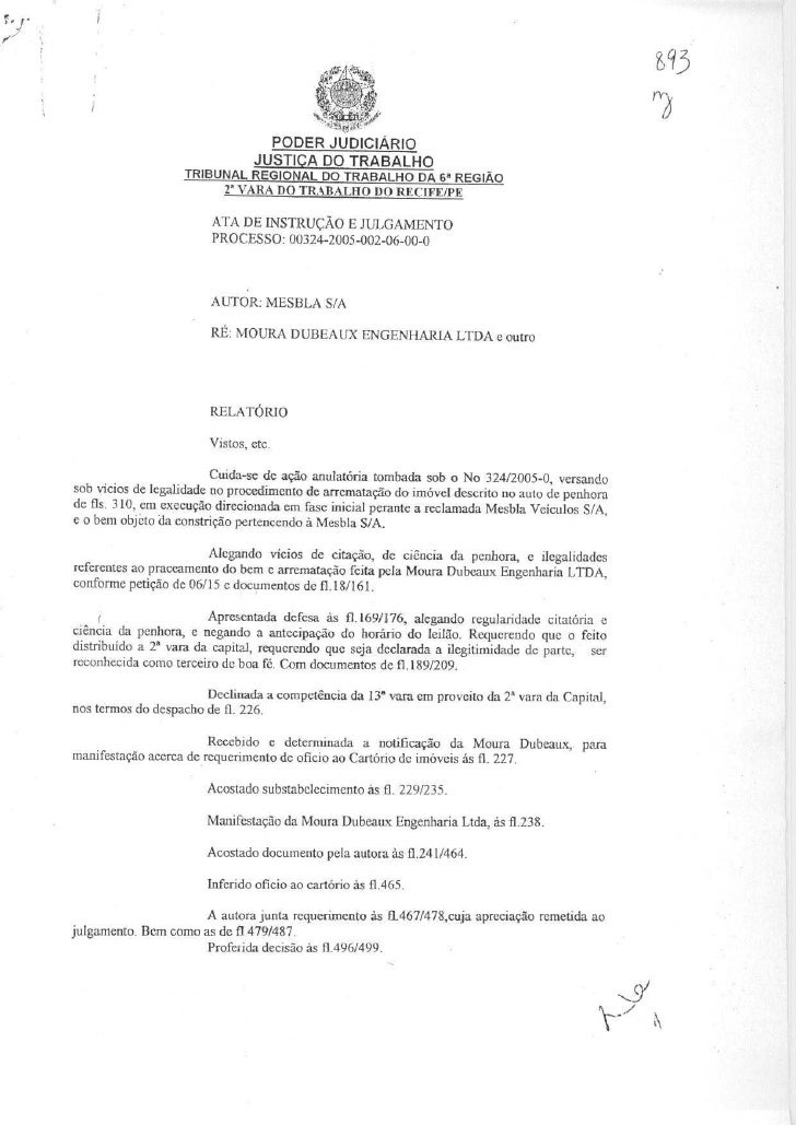Ata audiência de instrução e julgamento (00324 2005-002-06-00-0)