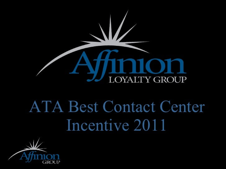 ATA Best Contact Center Incentive 2011
