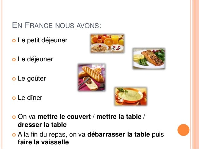 A table - Disposition des couverts en fin de repas ...