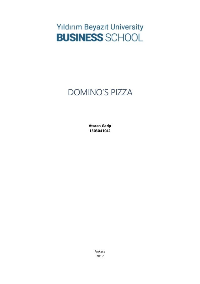 dominos pizza case study Network of company-owned and franchise-owned st domino's pizza wwwdominoscom as a pizza company, you only have the opportunity to connect with.