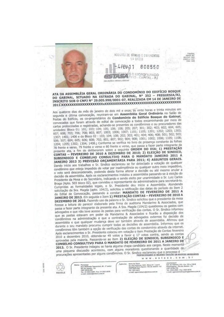 Ata De Eleição De Síndico 2011 2013