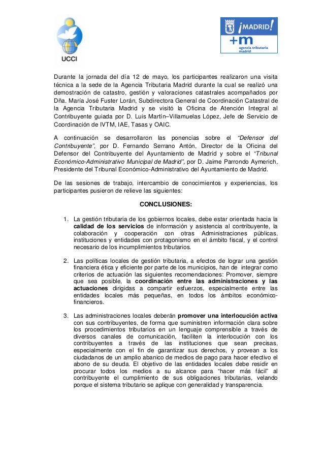 Ata final for Ayuntamiento de madrid oficina de atencion integral al contribuyente