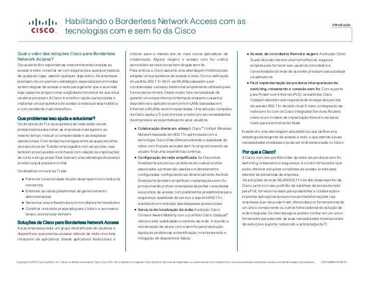 Habilitando o Borderless Network Access com as                                                                            ...