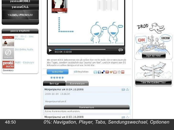 0%: Navigation, Player, Tabs, Sendungswechsel, Optionen 48:50