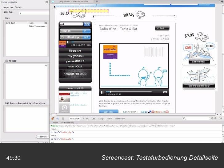 Screencast: Tastaturbedienung Detailseite 49:30