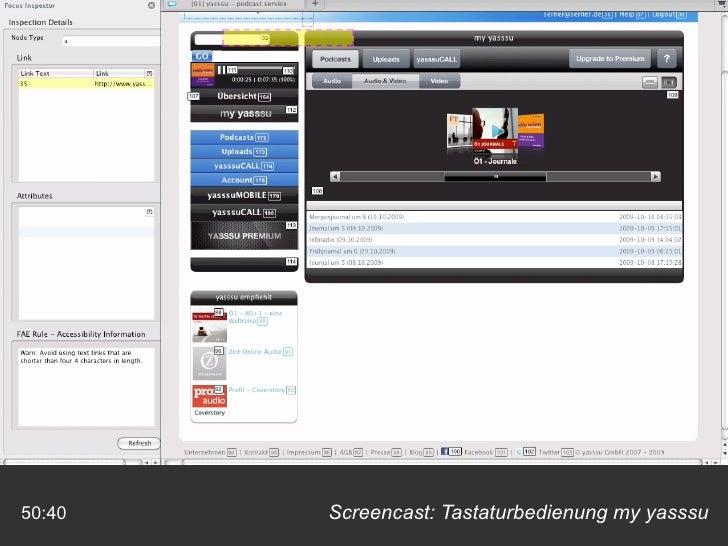 Screencast: Tastaturbedienung my yasssu 50:40