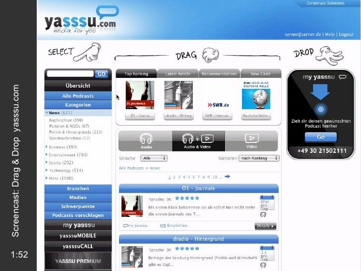 1:52 Screencast: Drag & Drop  yasssu.com