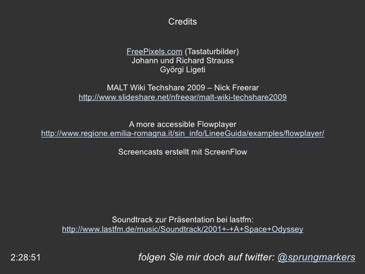 folgen Sie mir doch auf twitter:  @sprungmarkers 2:28:51 Credits FreePixels.com  (Tastaturbilder) Johann und Richard Strau...
