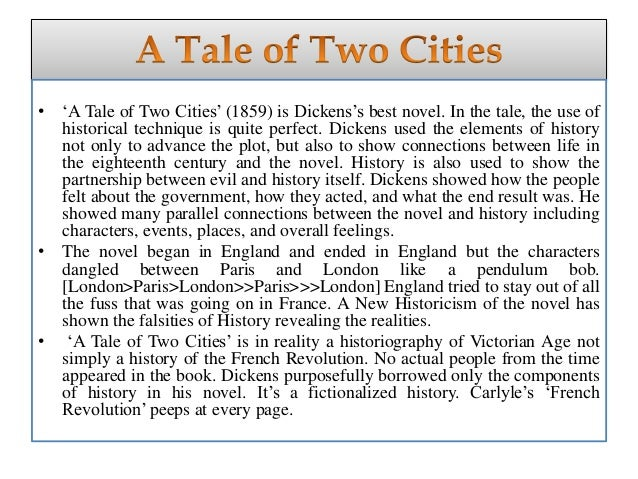 an interpretation of a tale of two cities by charles dickens Critical acclaim, a tale of two cities occupies a central place in the cannon of charles dickens' work a tale of two cities, published in serial form starting on april 30, 1859, is a historical fiction novel a dominant theme in this historical novel is the duality found in many of dickens' characters dickens' a tale of two cities.