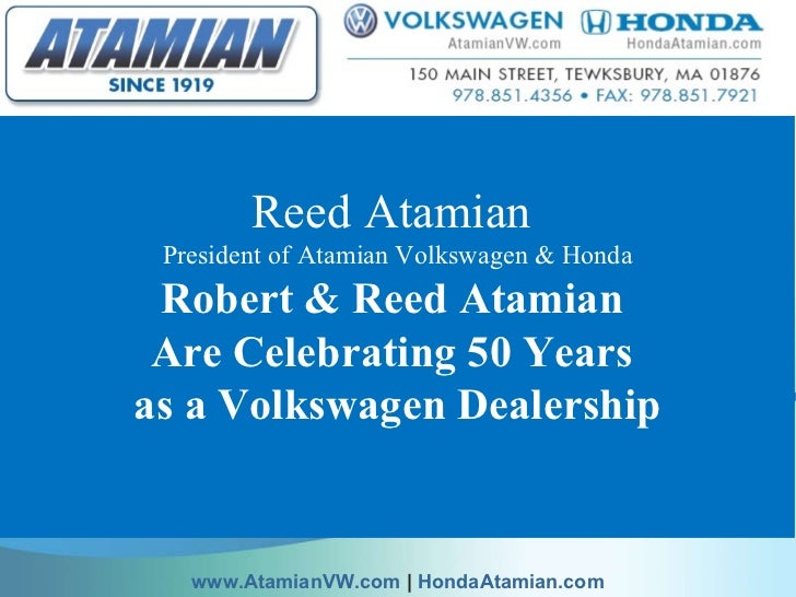 reed atamian robert atamian celebrate  years  volkswagen