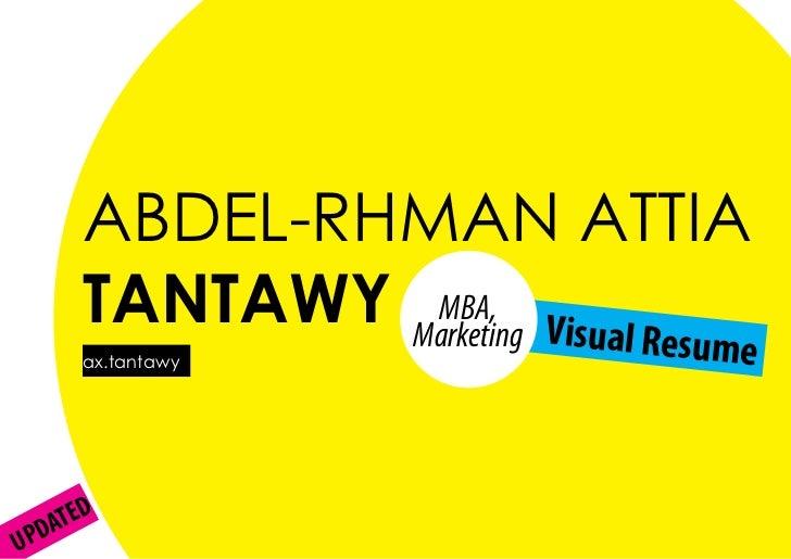 ABDEL-RHMAN ATTIA      TANTAWY Marketing Visual Re               MBA,      ax.tantawy                              sume   ...