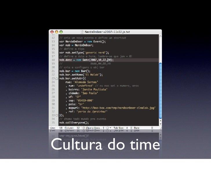 Cultura do time