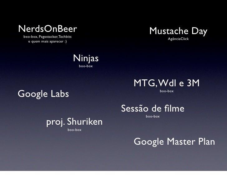 NerdsOnBeer                                        Mustache Day  boo-box, Pagestacker, Techbits                           ...