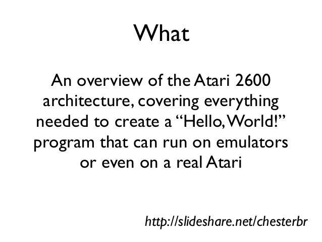 Atari 2600 VCS Programming Slide 2