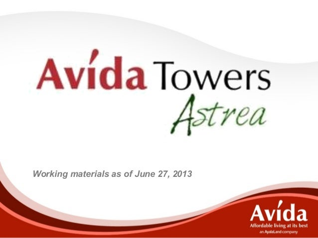 Working materials as of June 27, 2013