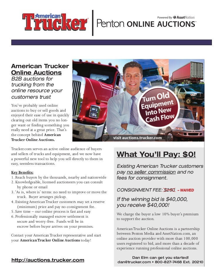 American TruckerOnline AuctionsB2B auctions fortrucking from theonline resource yourcustomers trustYou've probably used on...