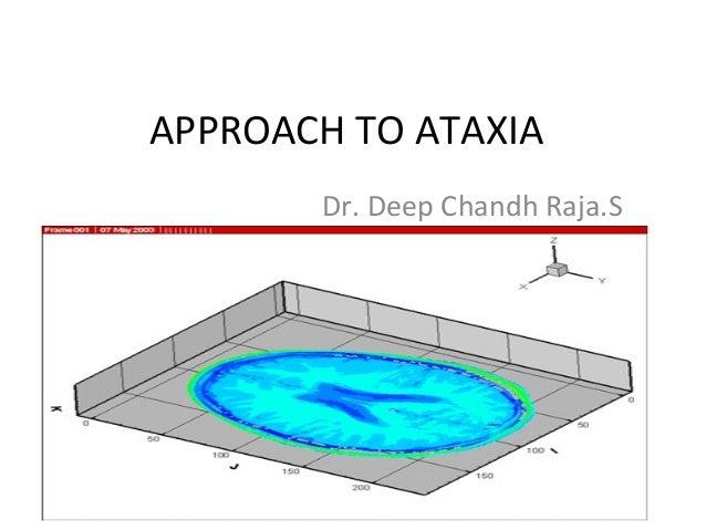 APPROACH TO ATAXIADr. Deep Chandh Raja.S