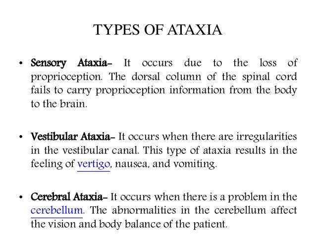 Ataxia : causes, symptoms, diagnosis and treatment B12 Deficiency Spinal Cord