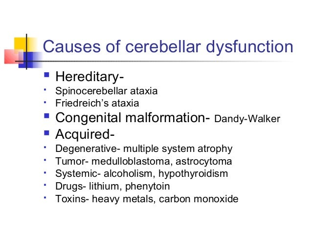 ataxia & cerebellar disorders, Skeleton