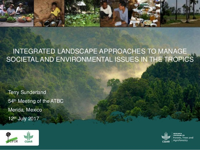 Terry Sunderland 54th Meeting of the ATBC Merida, Mexico 12th July 2017 INTEGRATED LANDSCAPE APPROACHES TO MANAGE SOCIETAL...