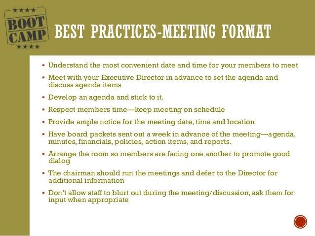 Best Practices/Advisories