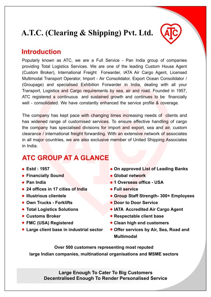 A.T.C. (Clearing & Shipping) Pvt. Ltd.Service Concept                                         Tax Efficient               ...