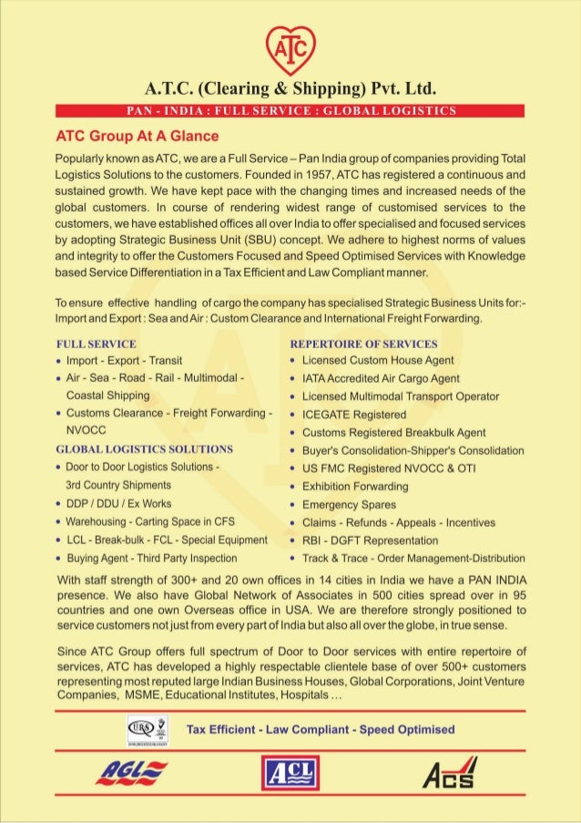 ATC Group Leaflet