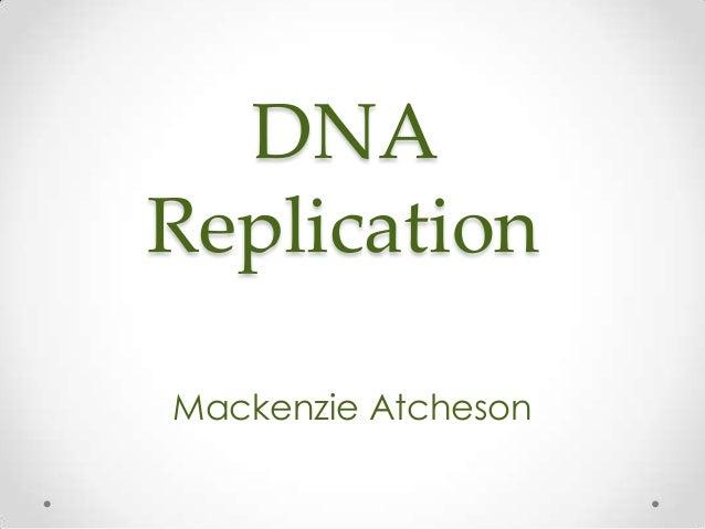 DNA Replication Mackenzie Atcheson