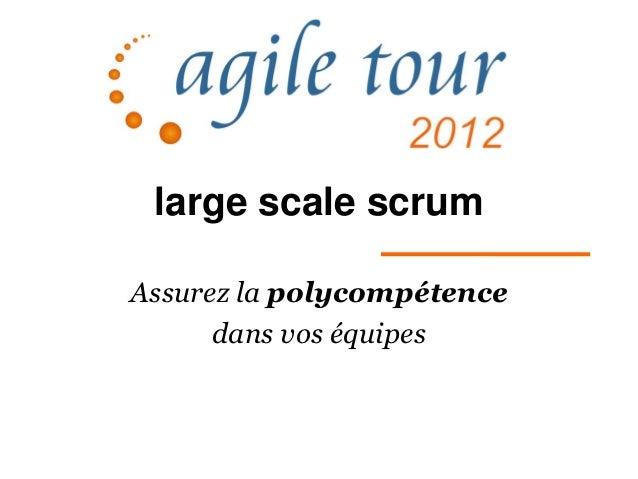 large scale scrumAssurez la polycompétence      dans vos équipes